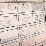 Andrés Storyboard zu den einzelnen Videoszenen (Foto: Leske)